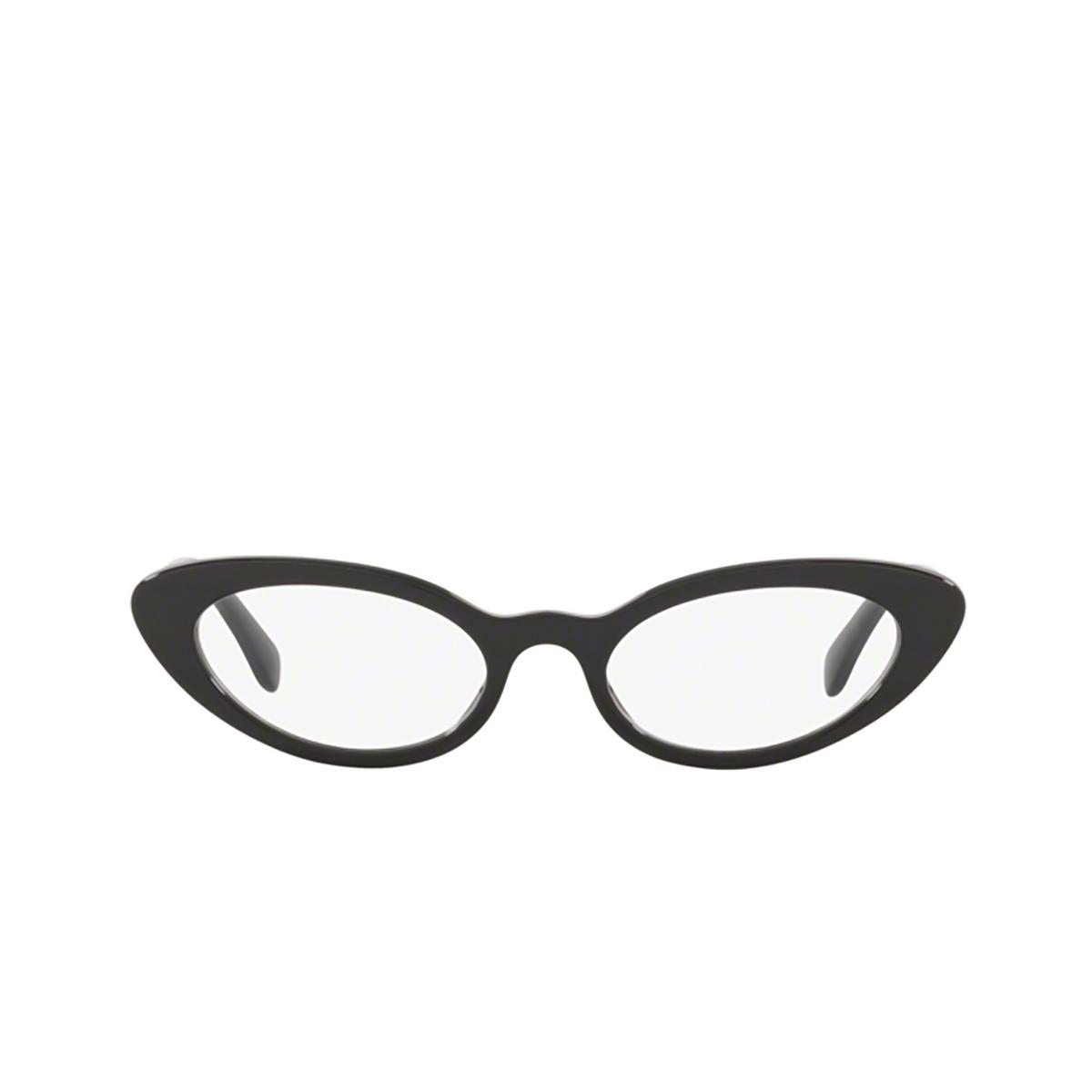 Miu Miu® Cat-eye Eyeglasses: MU 01SV color Black 1AB1O1 - front view.