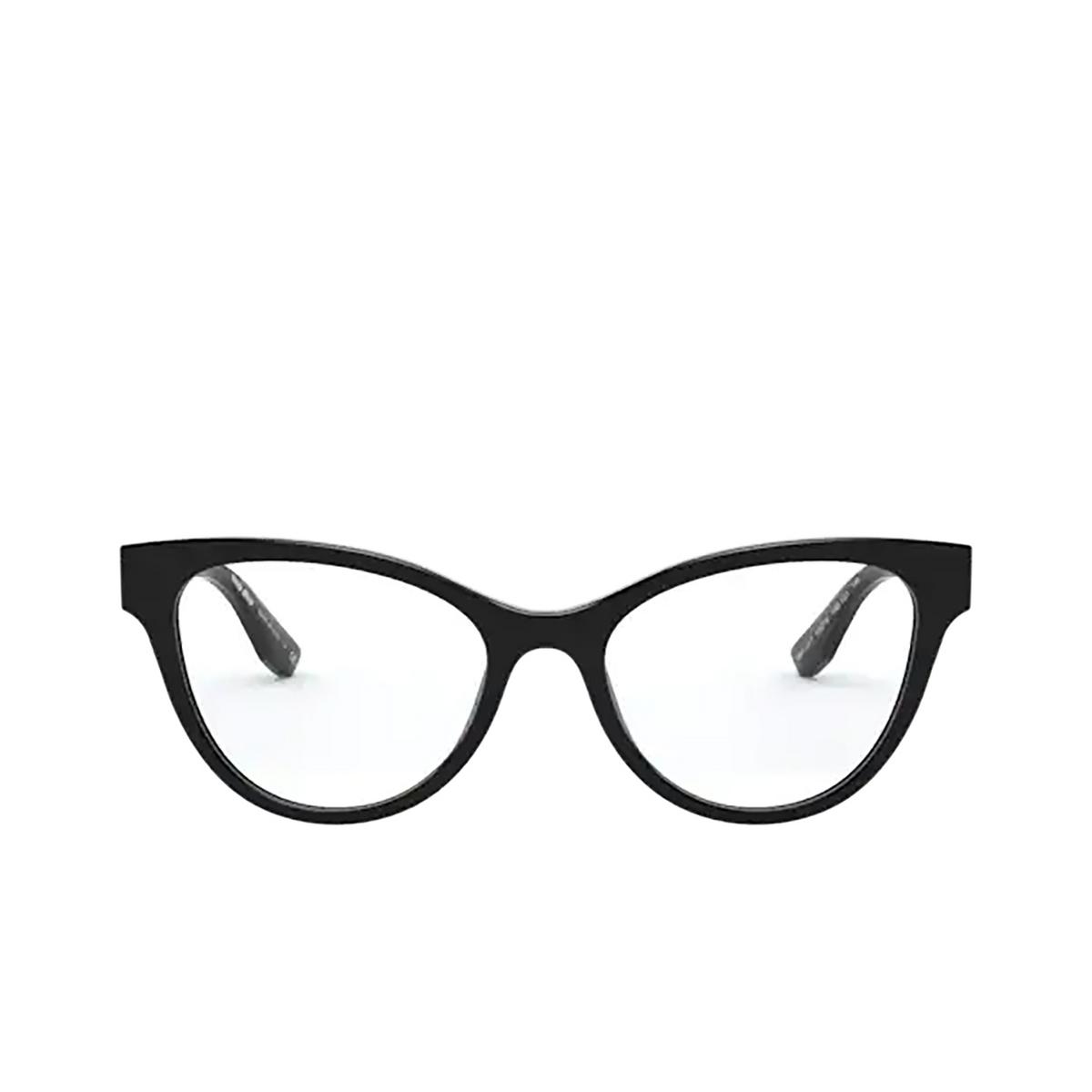Miu Miu® Butterfly Eyeglasses: MU 01TV color Black 1AB1O1.
