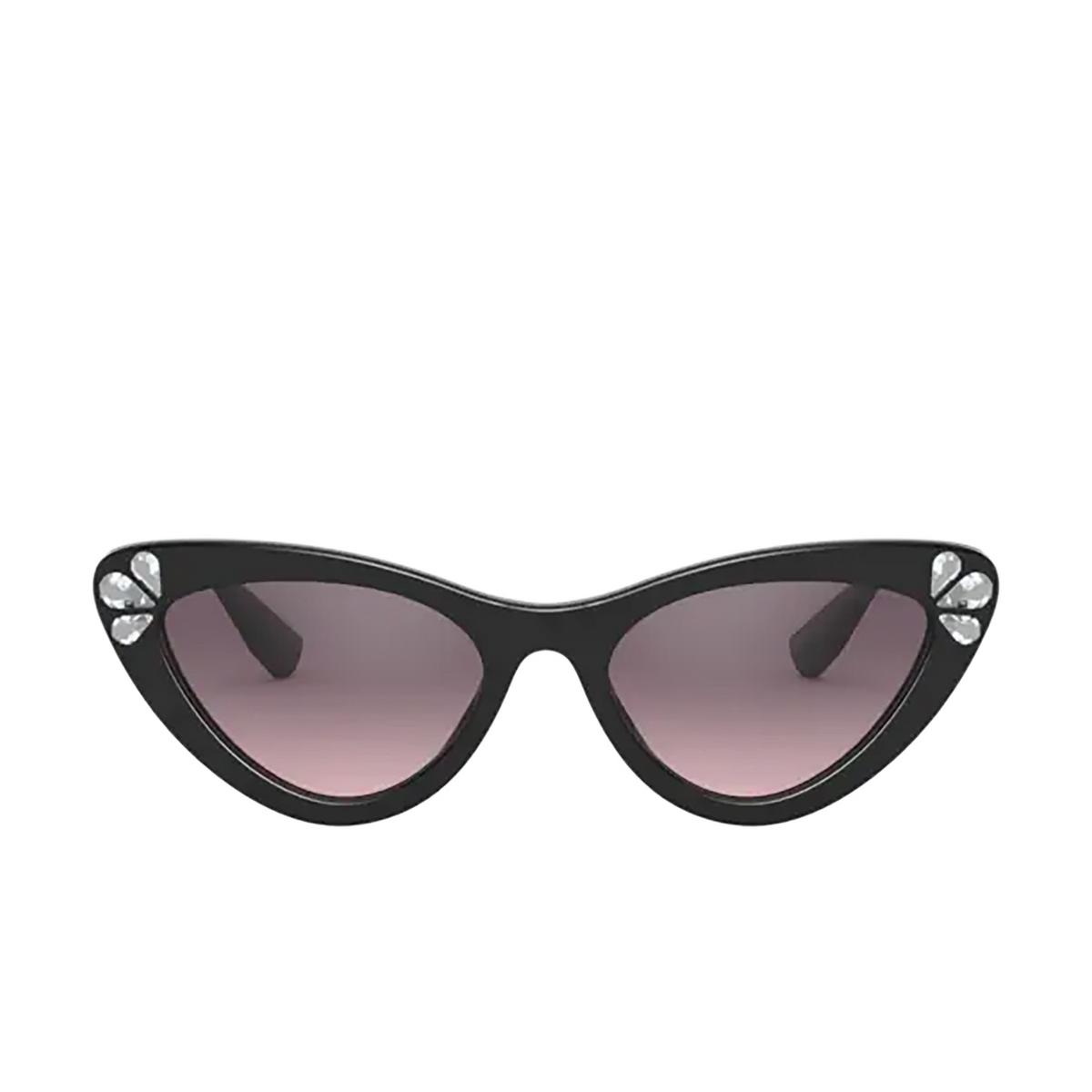 Miu Miu® Cat-eye Sunglasses: MU 01VS color Black 152146.
