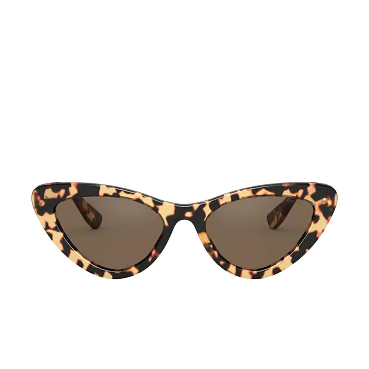 Miu Miu® Cat-eye Sunglasses: MU 01VS color Light Havana 7S08C1.