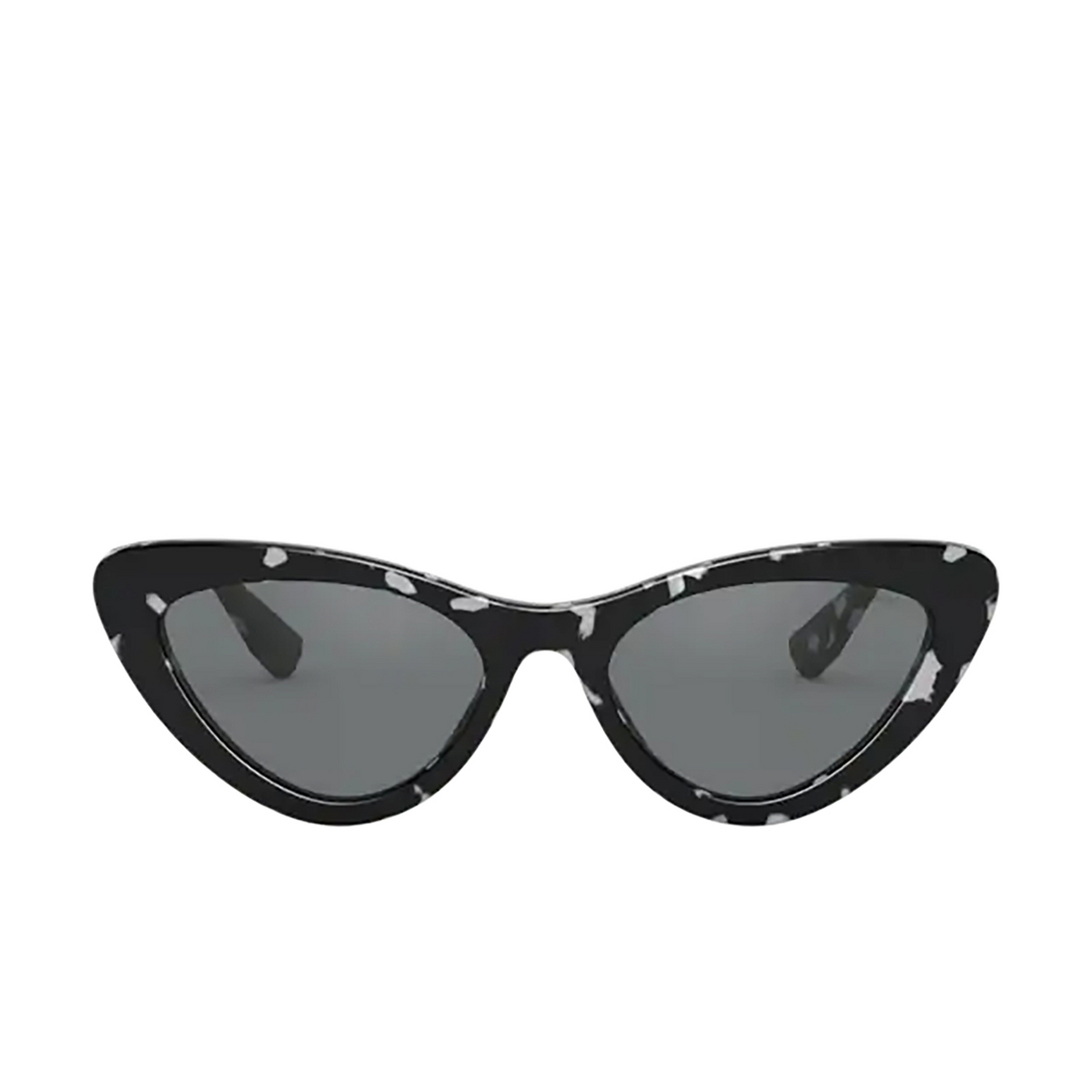 Miu Miu® Cat-eye Sunglasses: MU 01VS color Havana White Black PC79K1.