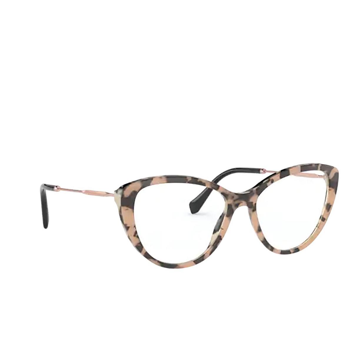 Miu Miu® Cat-eye Eyeglasses: MU 02SV color Havana 07D1O1 - three-quarters view.