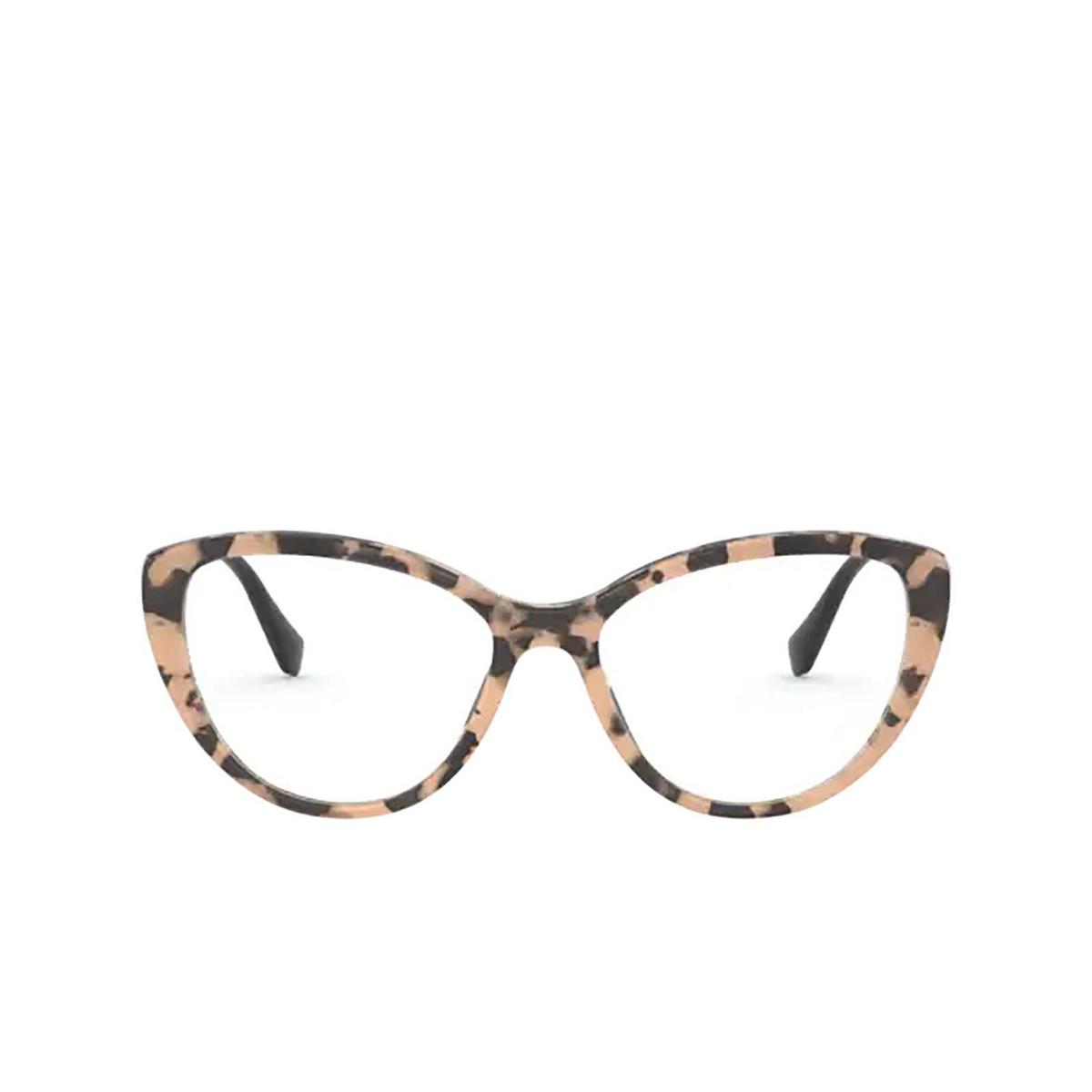 Miu Miu® Cat-eye Eyeglasses: MU 02SV color Havana 07D1O1 - front view.