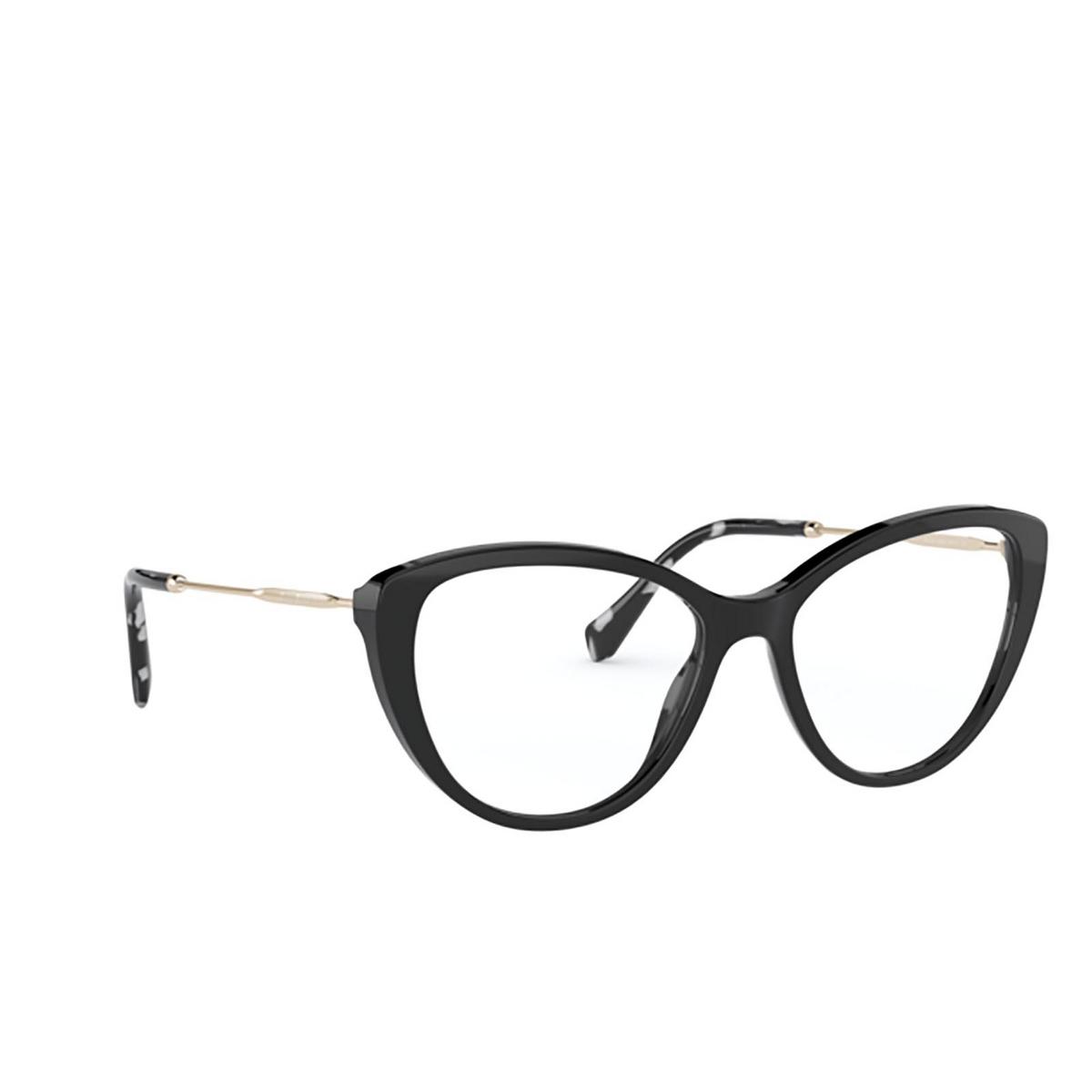 Miu Miu® Cat-eye Eyeglasses: MU 02SV color 1AB1O1 - three-quarters view.
