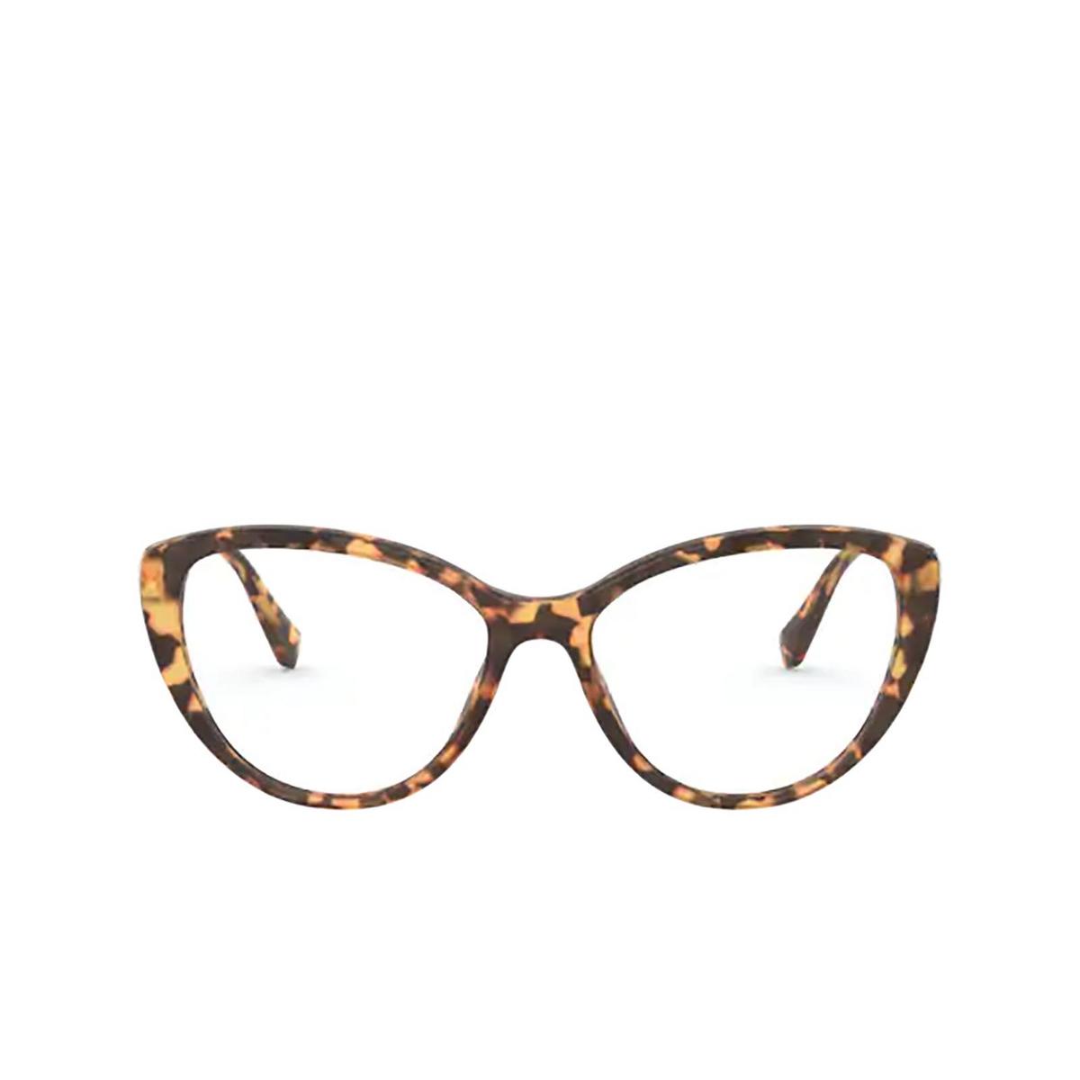 Miu Miu® Cat-eye Eyeglasses: MU 02SV color Light Havana 7S01O1 - front view.
