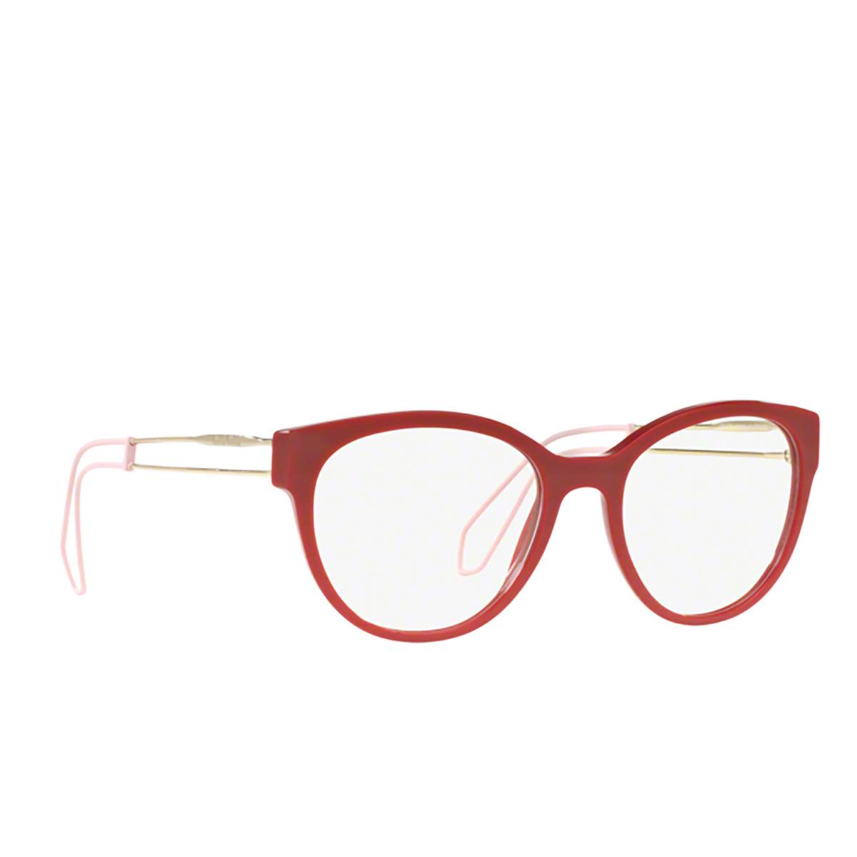 Miu Miu® Butterfly Eyeglasses: MU 03PV color Red USL1O1 - three-quarters view.