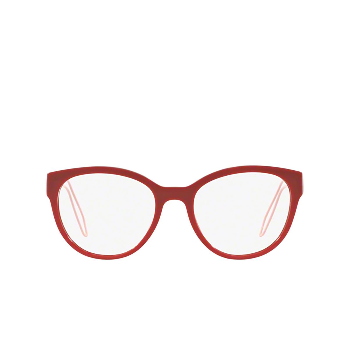 Miu Miu® Butterfly Eyeglasses: MU 03PV color Red USL1O1 - front view.