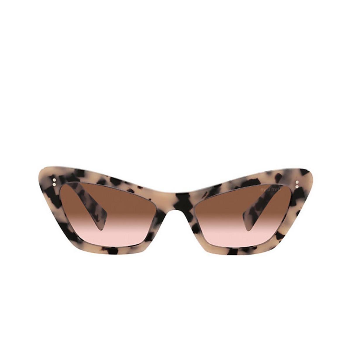 Miu Miu® Cat-eye Sunglasses: MU 03XS color Havana / Transparent Pink 07D0A6.