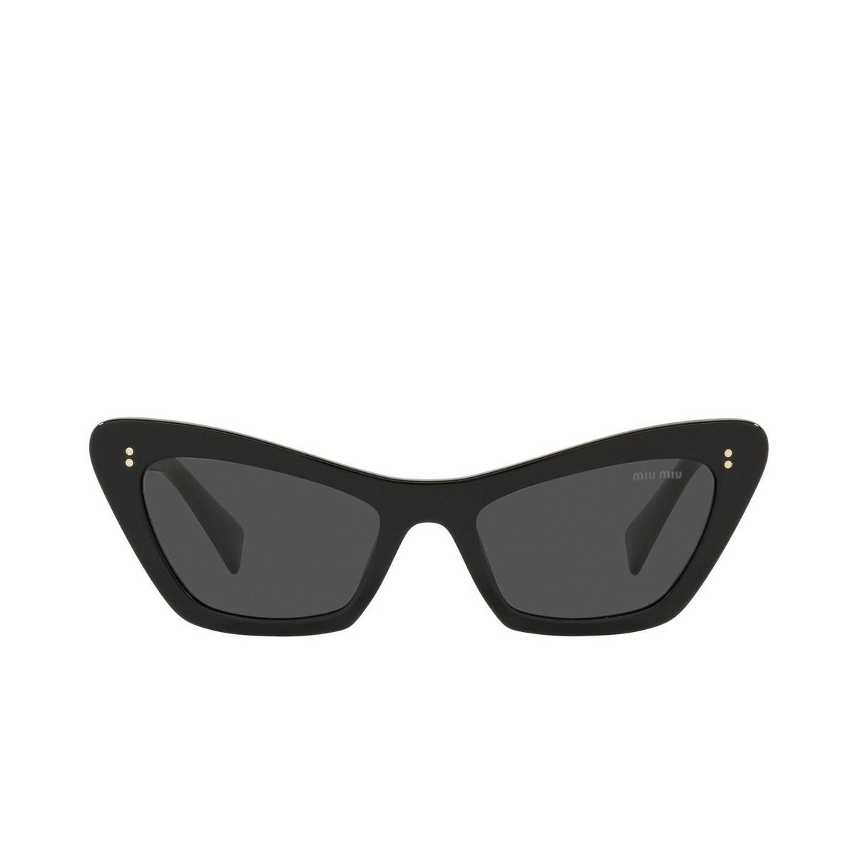 Miu Miu® Cat-eye Sunglasses: MU 03XS color Black 1AB5S0.