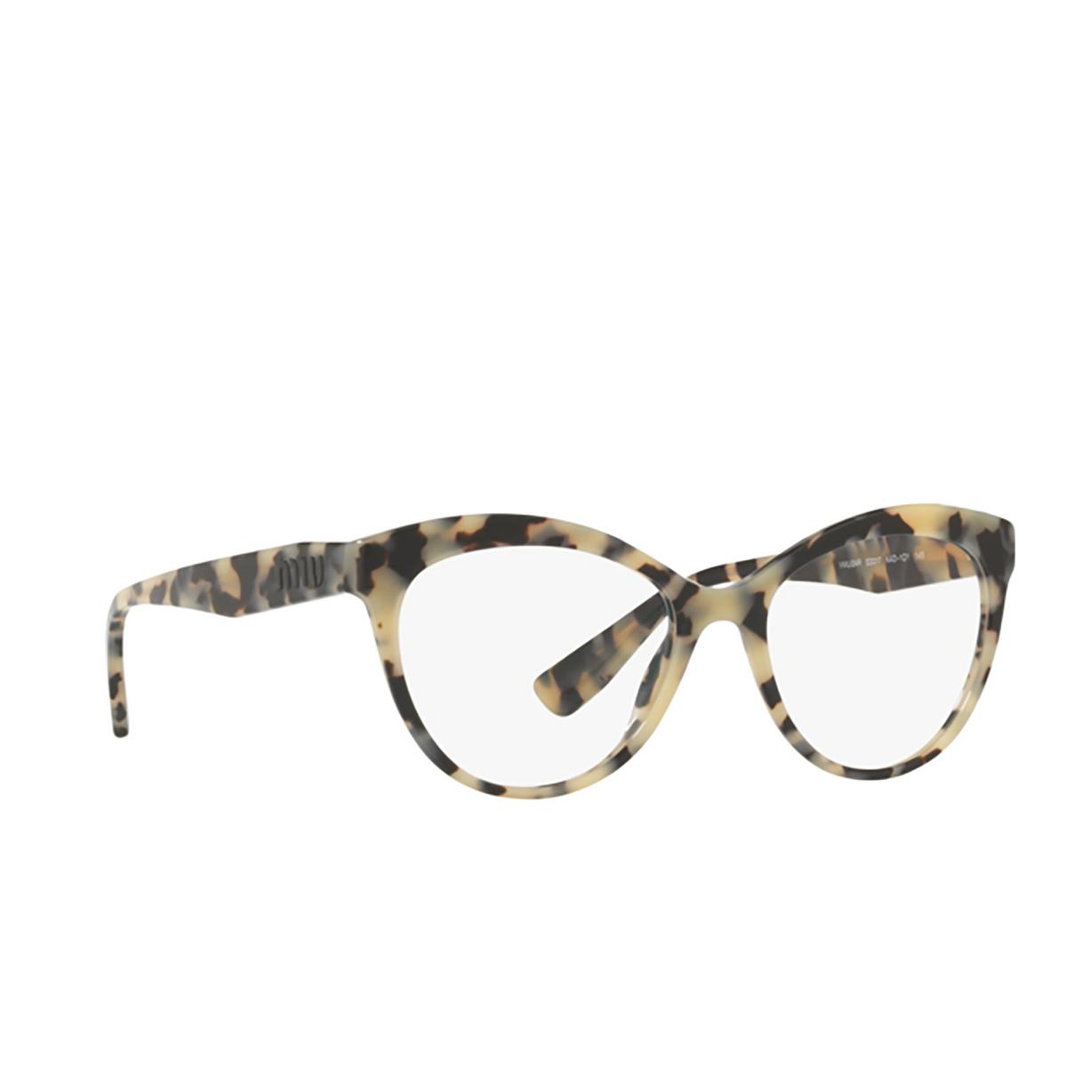 Miu Miu® Butterfly Eyeglasses: MU 04RV color Havana Sand Brown KAD1O1 - three-quarters view.