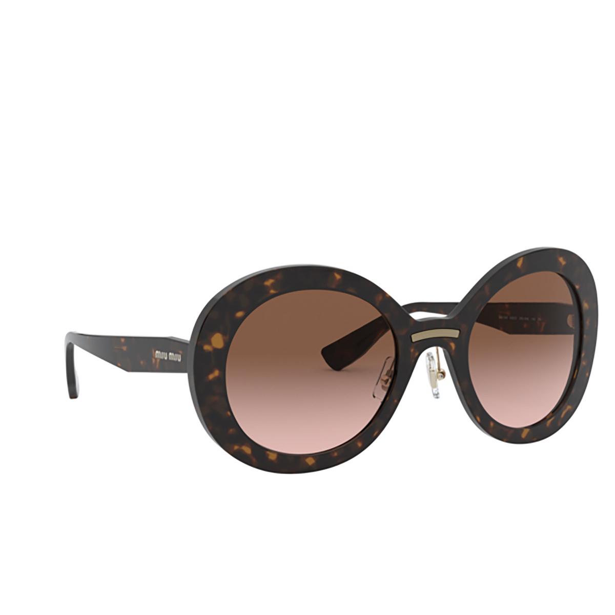 Miu Miu® Round Sunglasses: MU 04VS color Havana 2AU0A6.