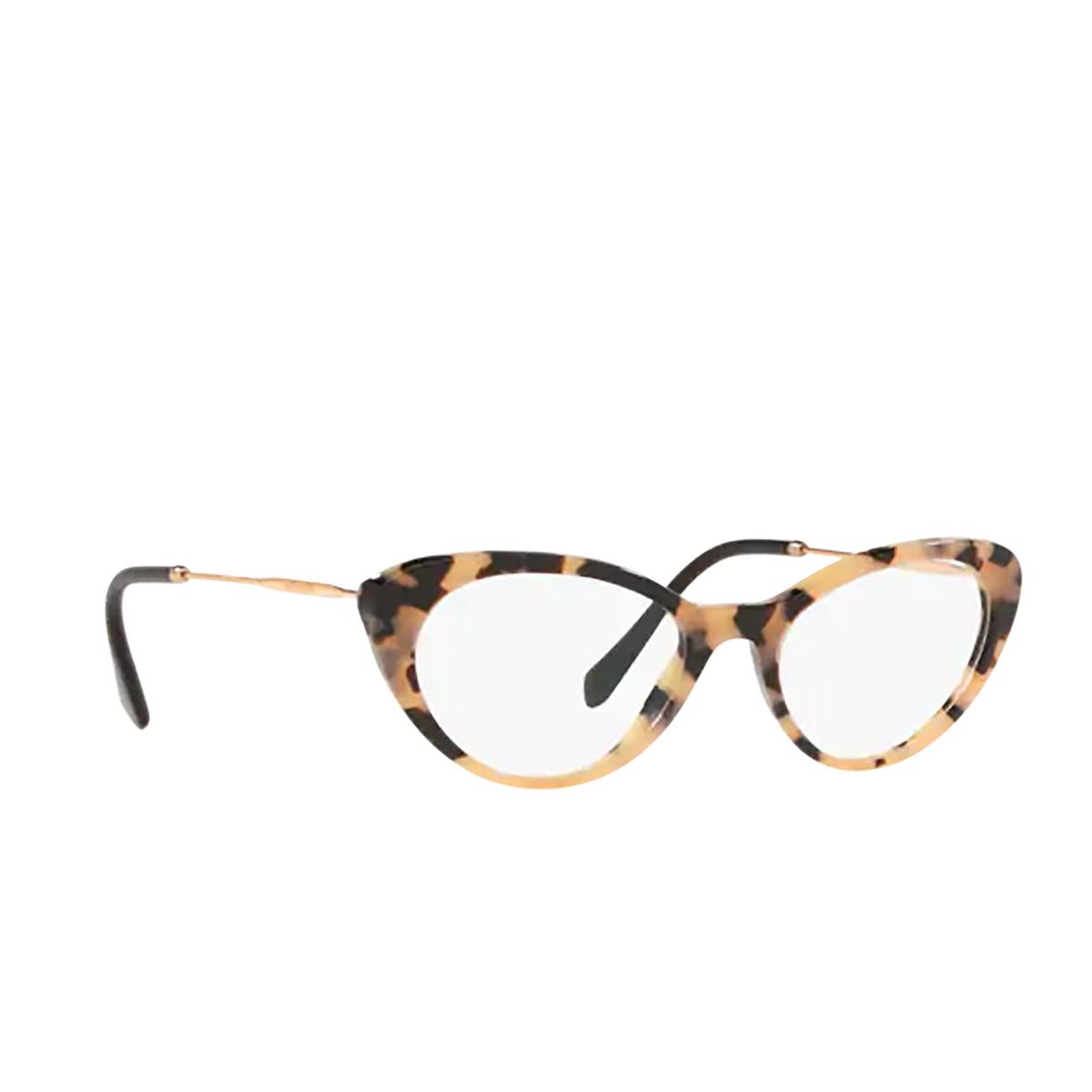 Miu Miu® Cat-eye Eyeglasses: MU 05RV color Pink Havana 07D1O1 - three-quarters view.