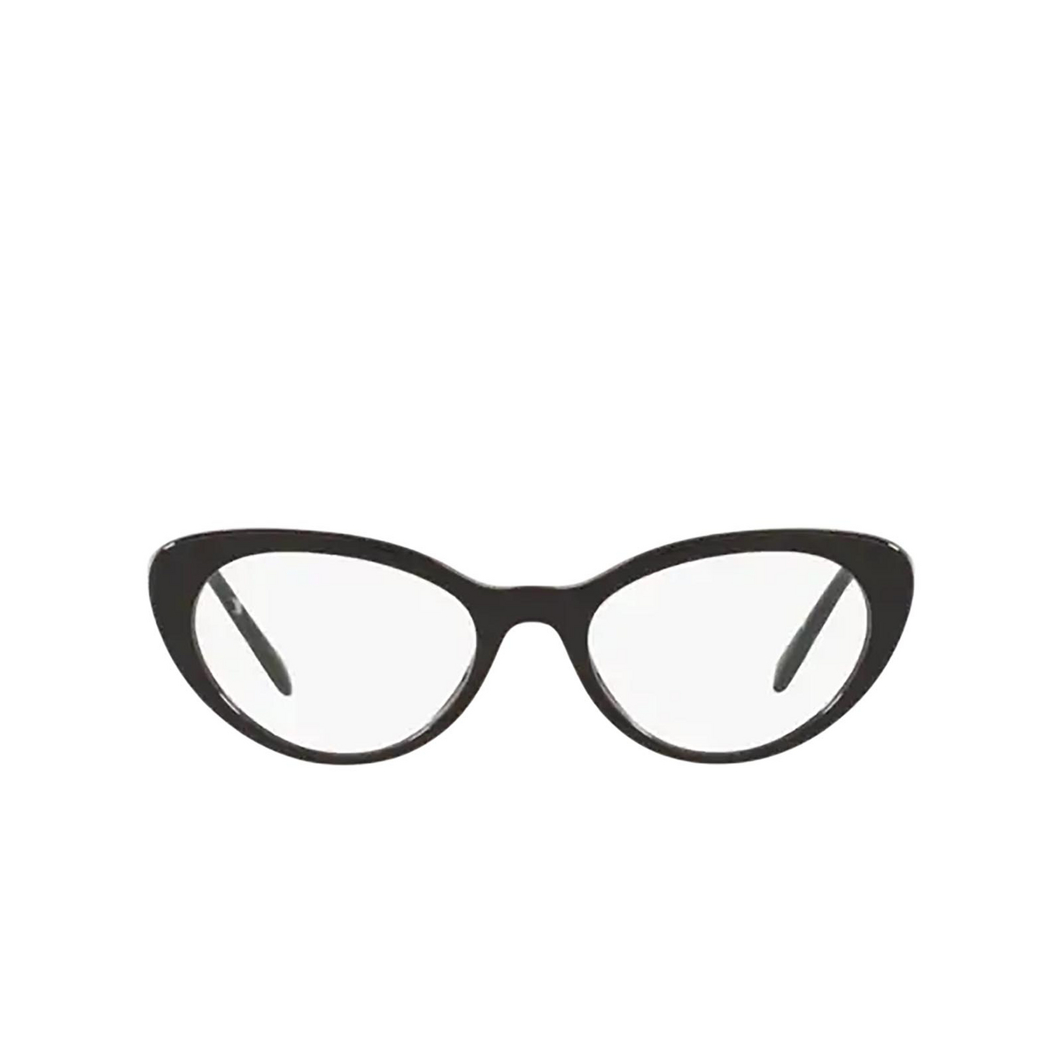 Miu Miu® Cat-eye Eyeglasses: MU 05RV color Black 1AB1O1 - front view.