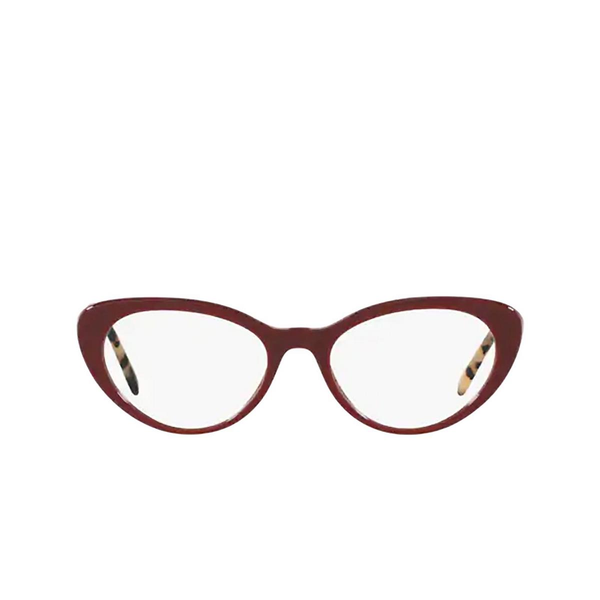 Miu Miu® Cat-eye Eyeglasses: MU 05RV color Bordeaux USH1O1 - front view.