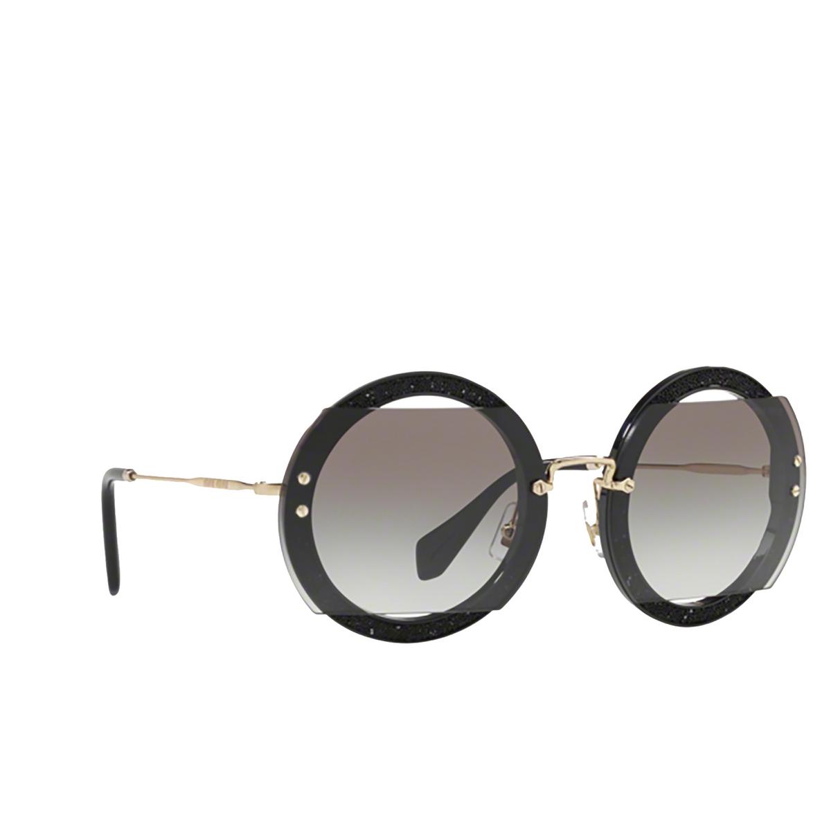 Miu Miu® Round Sunglasses: MU 06SS color Black 1AB0A7.