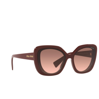 Miu Miu® Butterfly Sunglasses: MU 06XS color Pink Bordeaux 01T0A5.