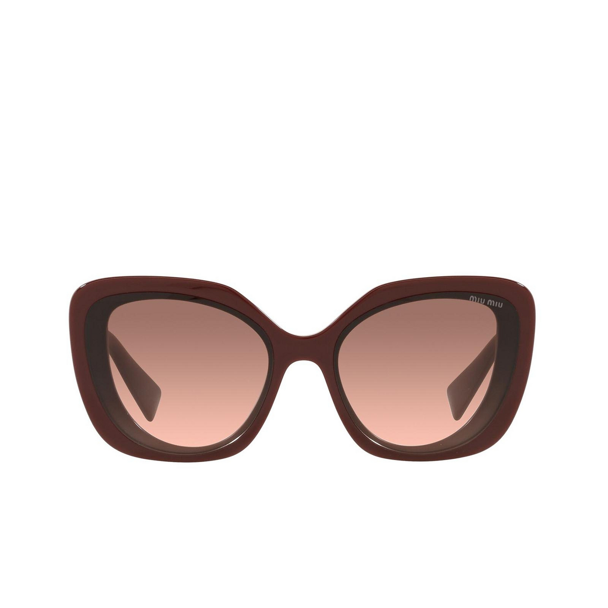 Miu Miu® Butterfly Sunglasses: MU 06XS color Pink Bordeaux 01T0A5.