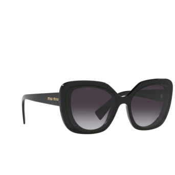 Miu Miu® Butterfly Sunglasses: MU 06XS color Crystal Black 03I5D1.