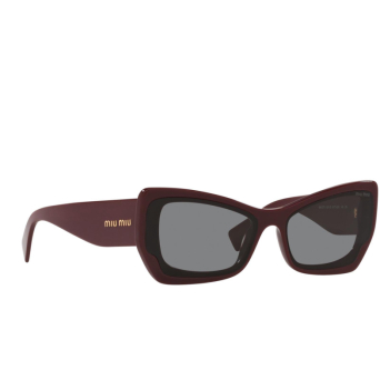 Miu Miu® Irregular Sunglasses: MU 07XS color Pink Bordeaux 01T02N.