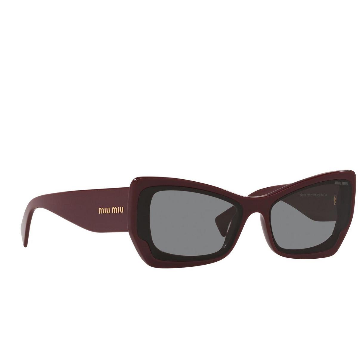 Miu Miu® Irregular Sunglasses: MU 07XS color Pink Bordeaux 01T02N.