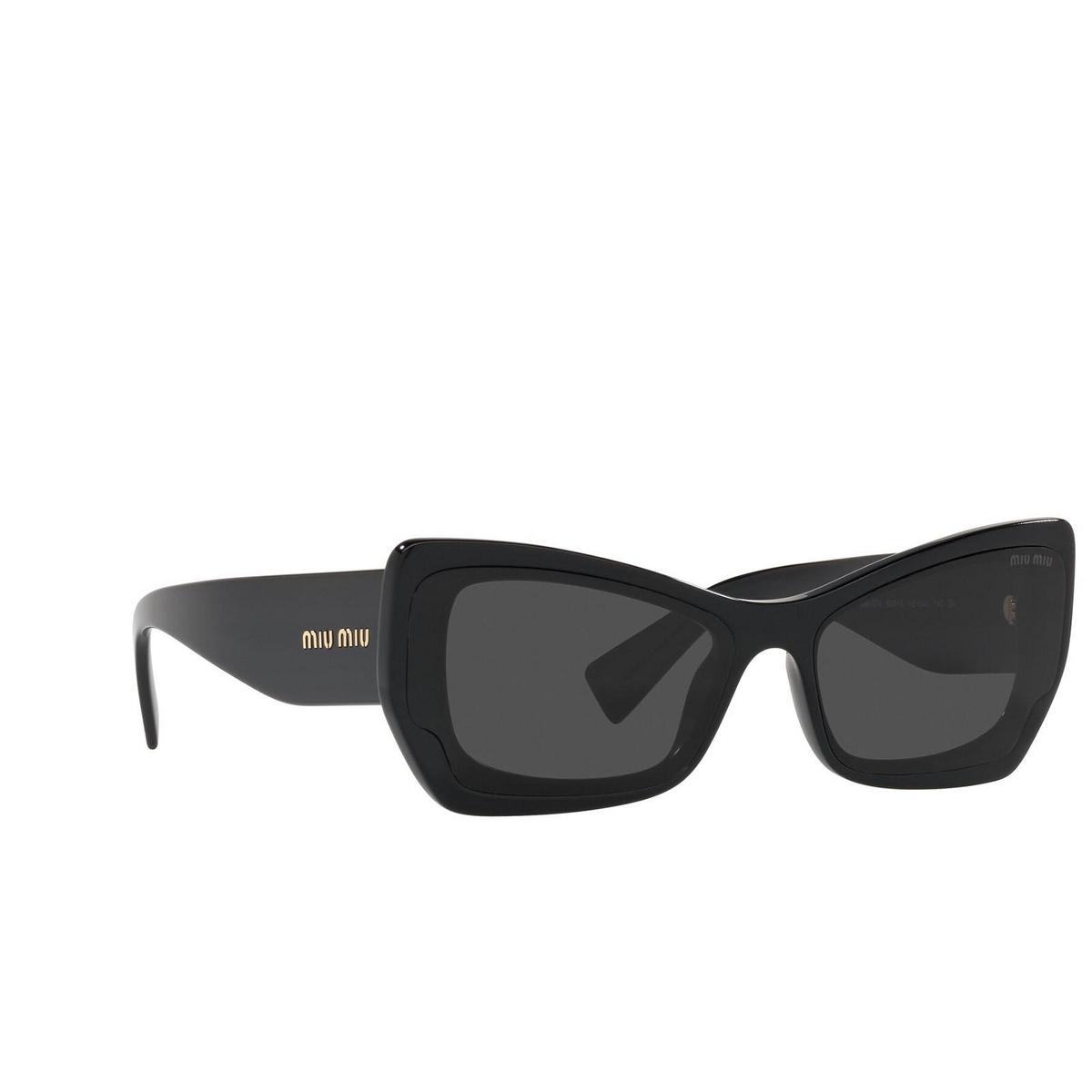 Miu Miu® Irregular Sunglasses: MU 07XS color Crystal Black 03I5S0.