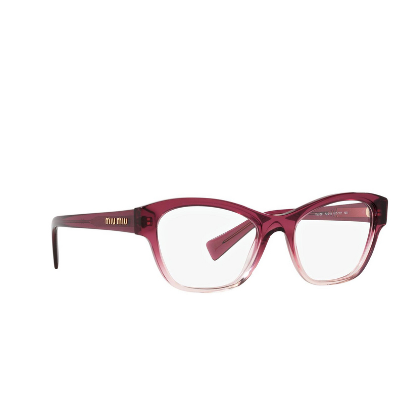 Miu Miu® Irregular Eyeglasses: MU 08TV color Gradient Bordeaux 04T1O1.