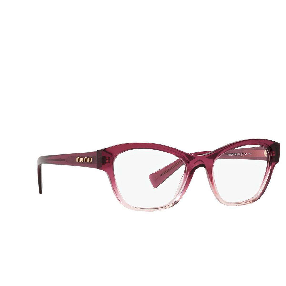 Miu Miu® Irregular Eyeglasses: MU 08TV color Gradient Bordeaux 04T1O1.