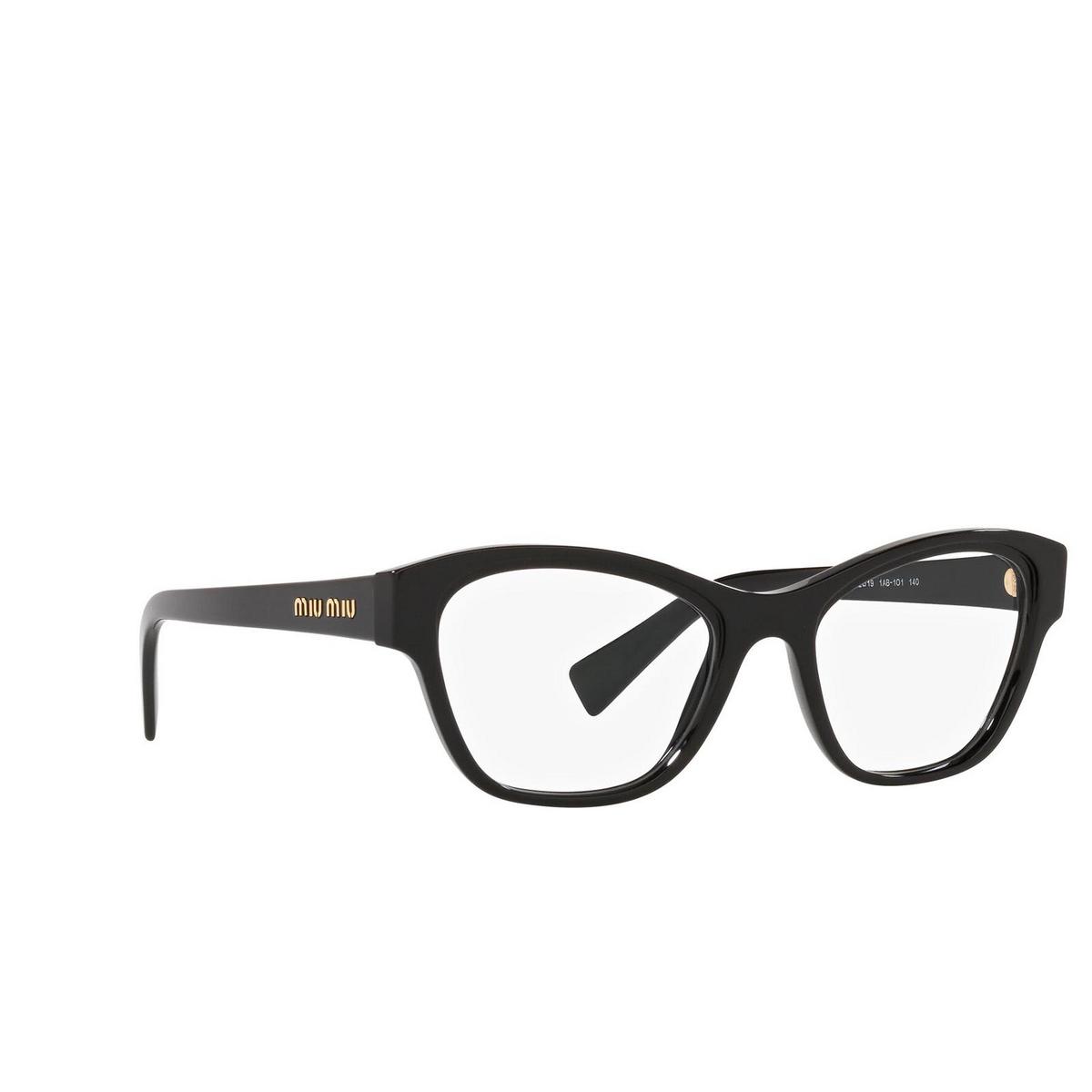 Miu Miu® Irregular Eyeglasses: MU 08TV color Black 1AB1O1.