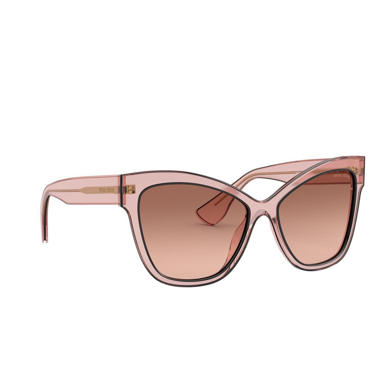 Miu Miu® Cat-eye Sunglasses: MU 08VS color Pink Transparent 01I0A5.