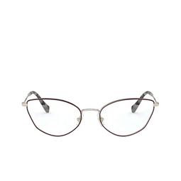 Miu Miu® Eyeglasses: MU 51SV color Pale Gold / Bordeaux 09B1O1.