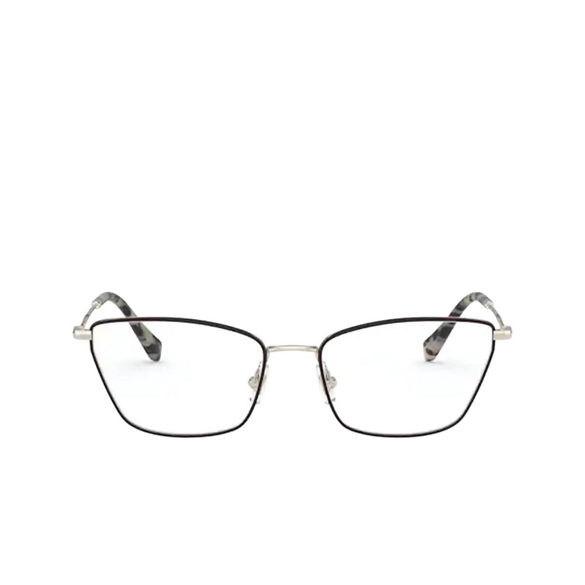 Miu Miu® Cat-eye Eyeglasses: MU 52SV color Pale Gold / Bordeaux 09B1O1 - front view.