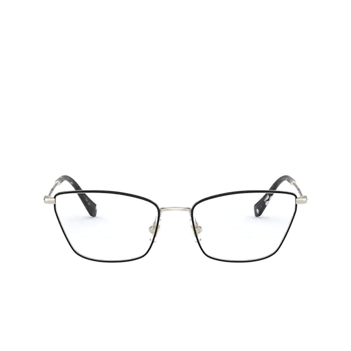 Miu Miu® Cat-eye Eyeglasses: MU 52SV color Pale Gold / Black AAV1O1 - front view.