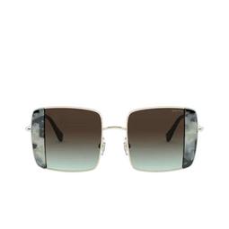 Miu Miu® Sunglasses: MU 56VS color Pale Gold / Havana Light Blue 08D07B.