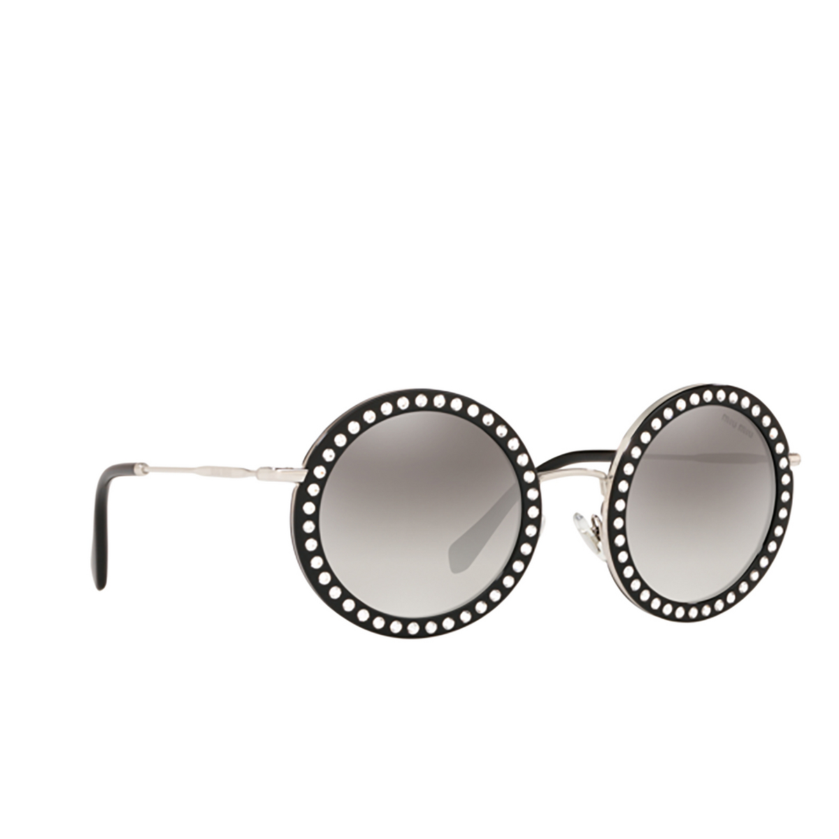 Miu Miu® Round Sunglasses: MU 59US color Black 1525O0.