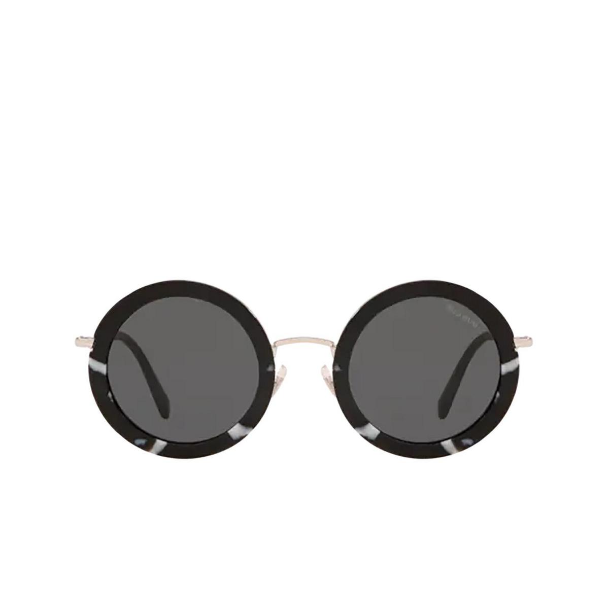 Miu Miu® Round Sunglasses: MU 59US color Havana Black / White PC75S0.