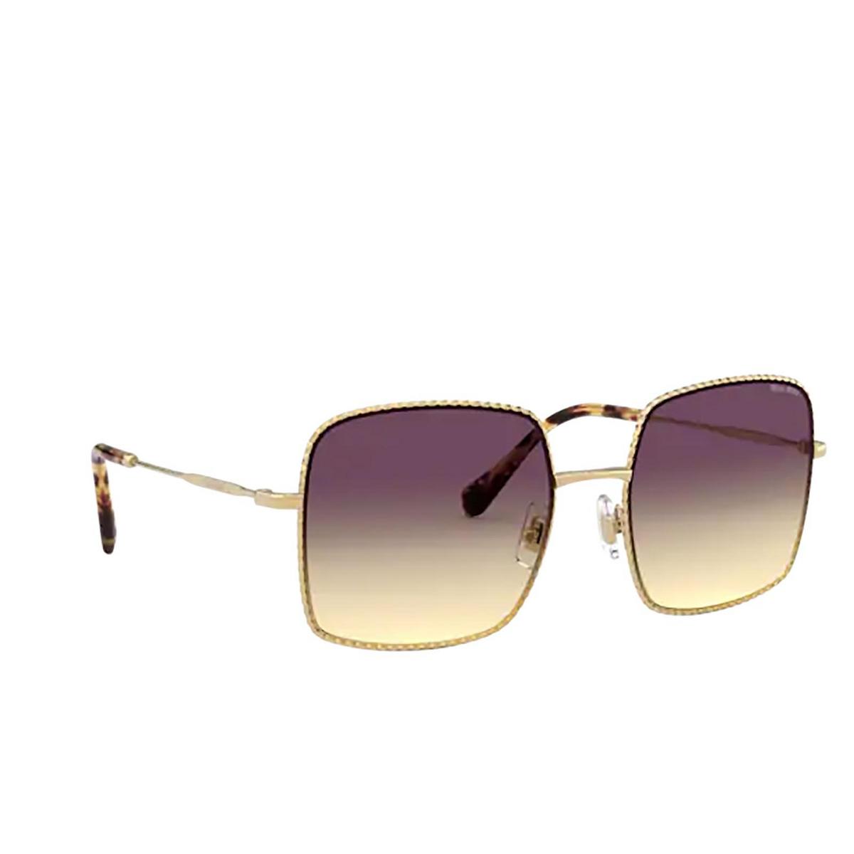 Miu Miu® Square Sunglasses: MU 61VS color Gold 5AK09B.