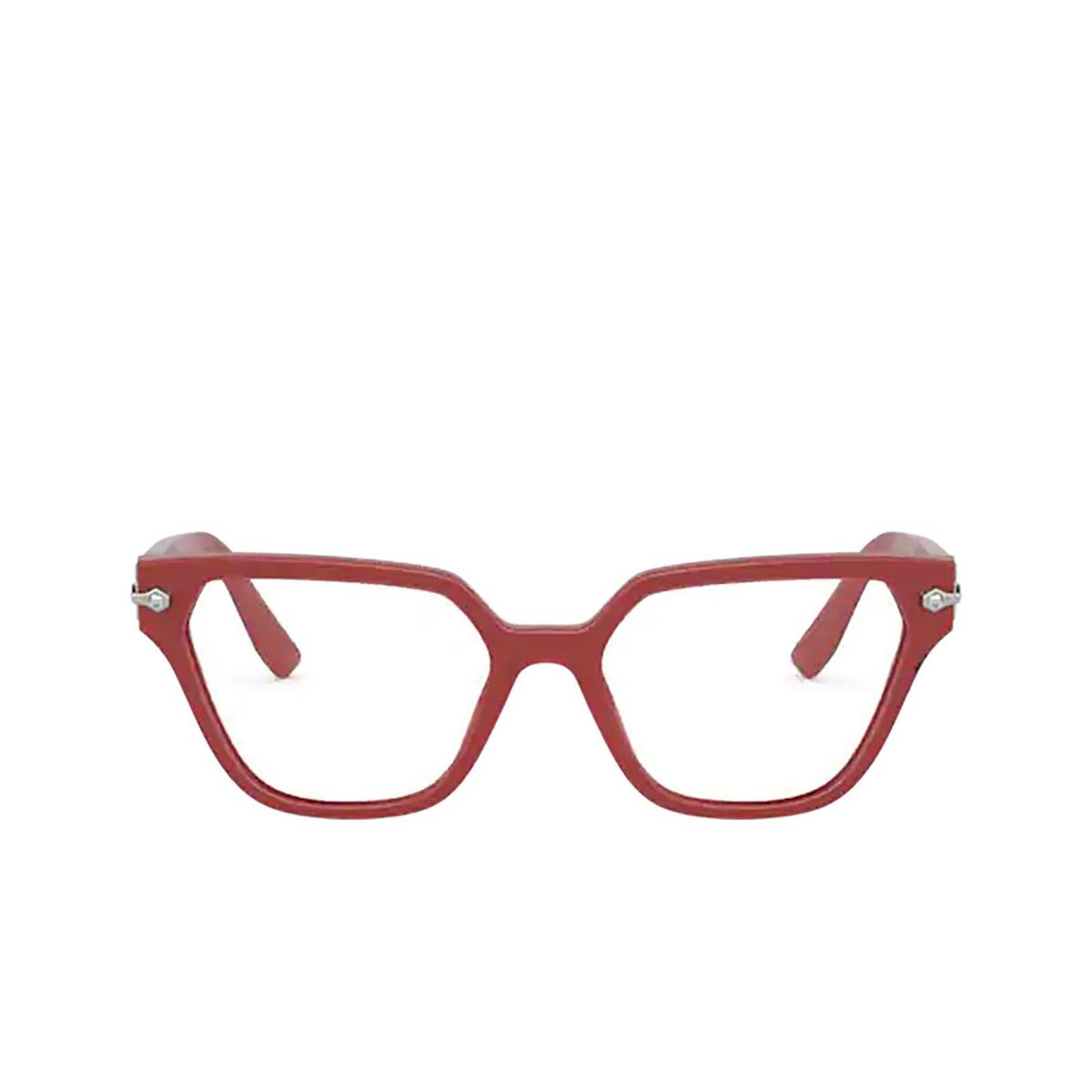 Miu Miu® Irregular Eyeglasses: Special Project MU 02TV color Dark Pink / Crystal 05F1O1 - front view.