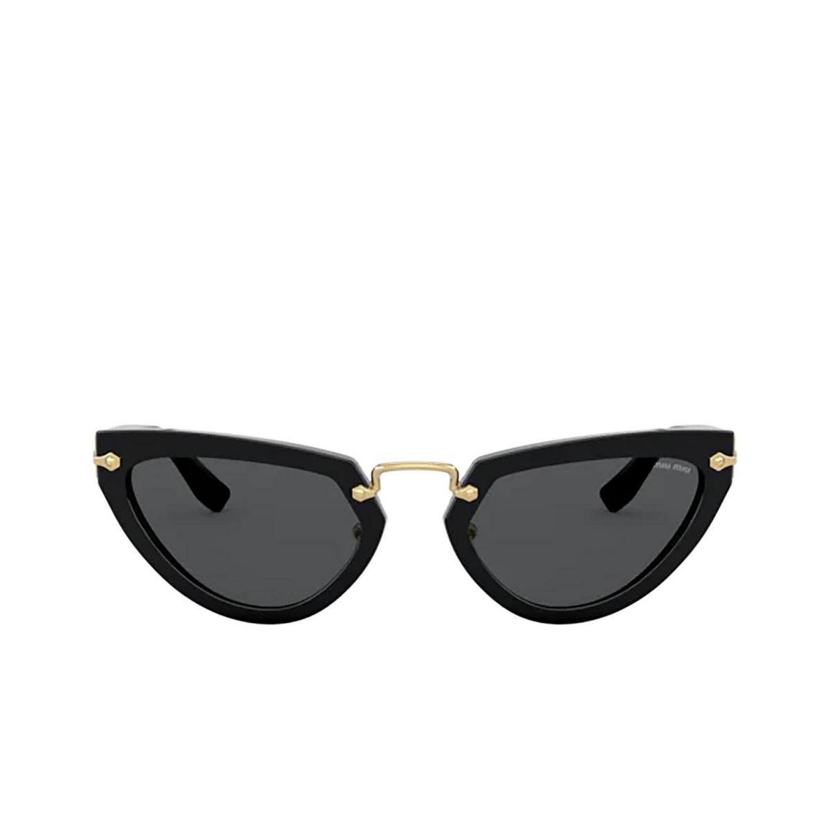 Miu Miu® Cat-eye Sunglasses: Special Project MU 10VS color Black 1AB5S0.
