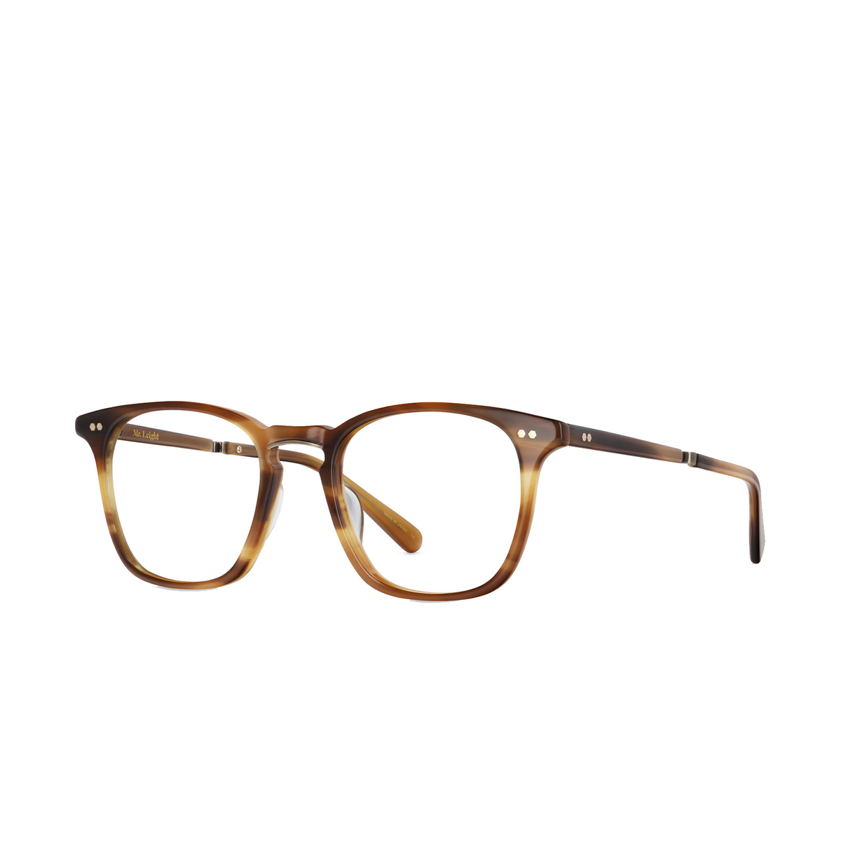 Mr. Leight® Square Eyeglasses: Getty C color Bw-atg - three-quarters view.