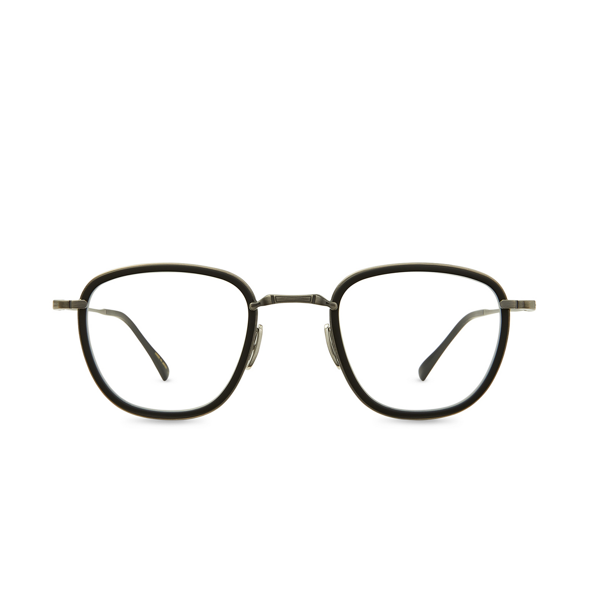 Mr. Leight® Square Eyeglasses: Griffith C color Mbk-pw-mbk - front view.