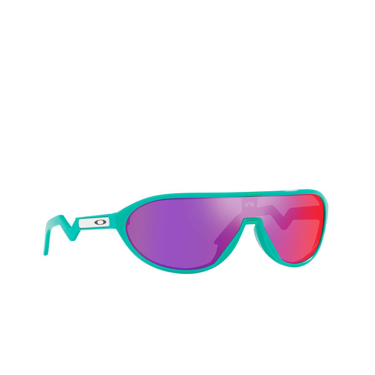 Oakley® Rectangle Sunglasses: Cmdn OO9467 color Celeste 946702 - three-quarters view.