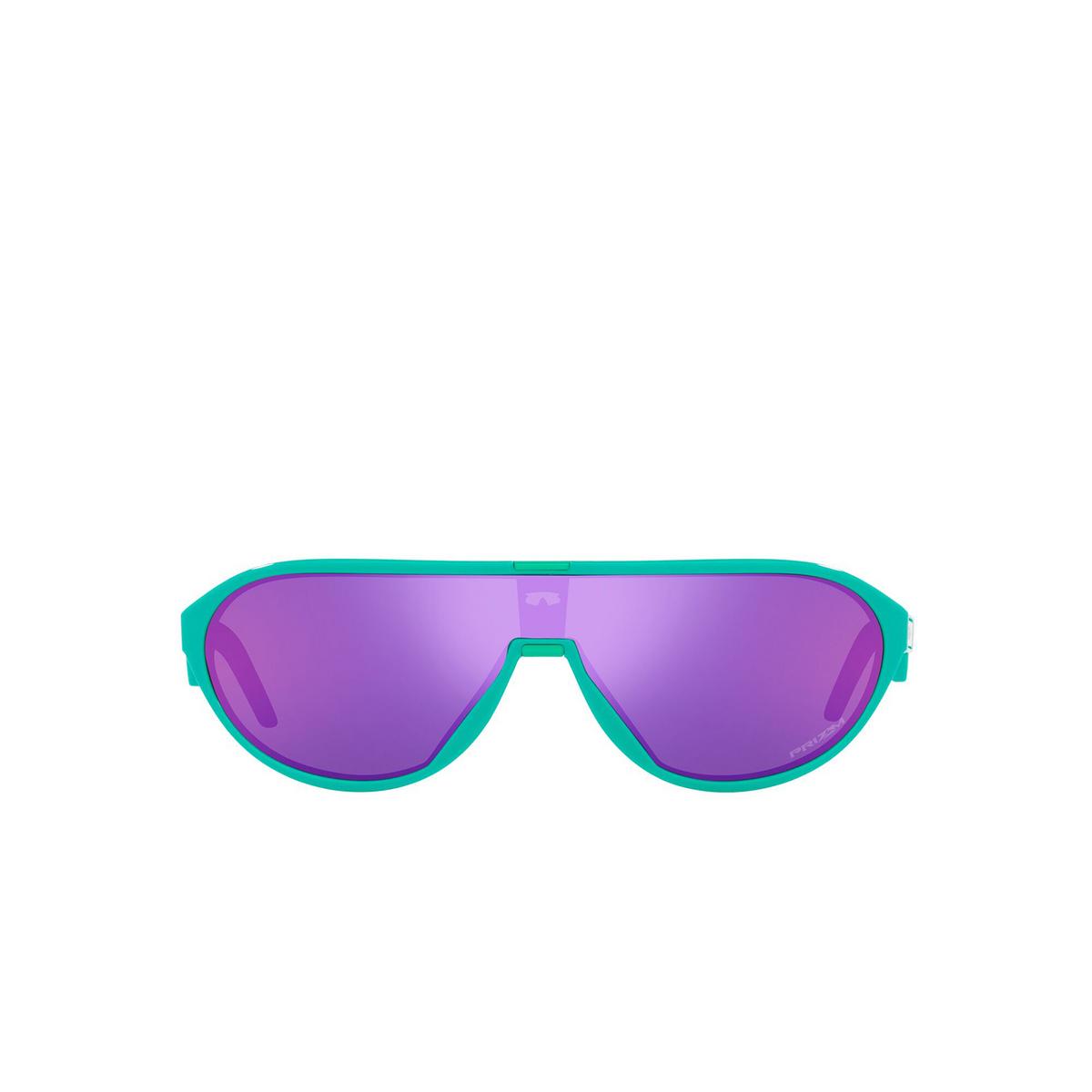 Oakley® Rectangle Sunglasses: Cmdn OO9467 color Celeste 946702 - front view.