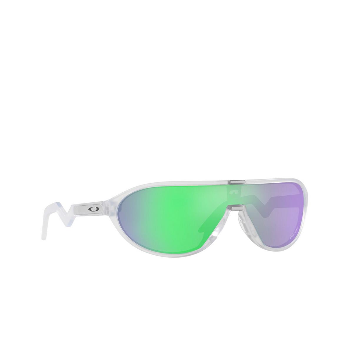 Oakley® Rectangle Sunglasses: Cmdn OO9467 color Matte Clear 946703 - three-quarters view.