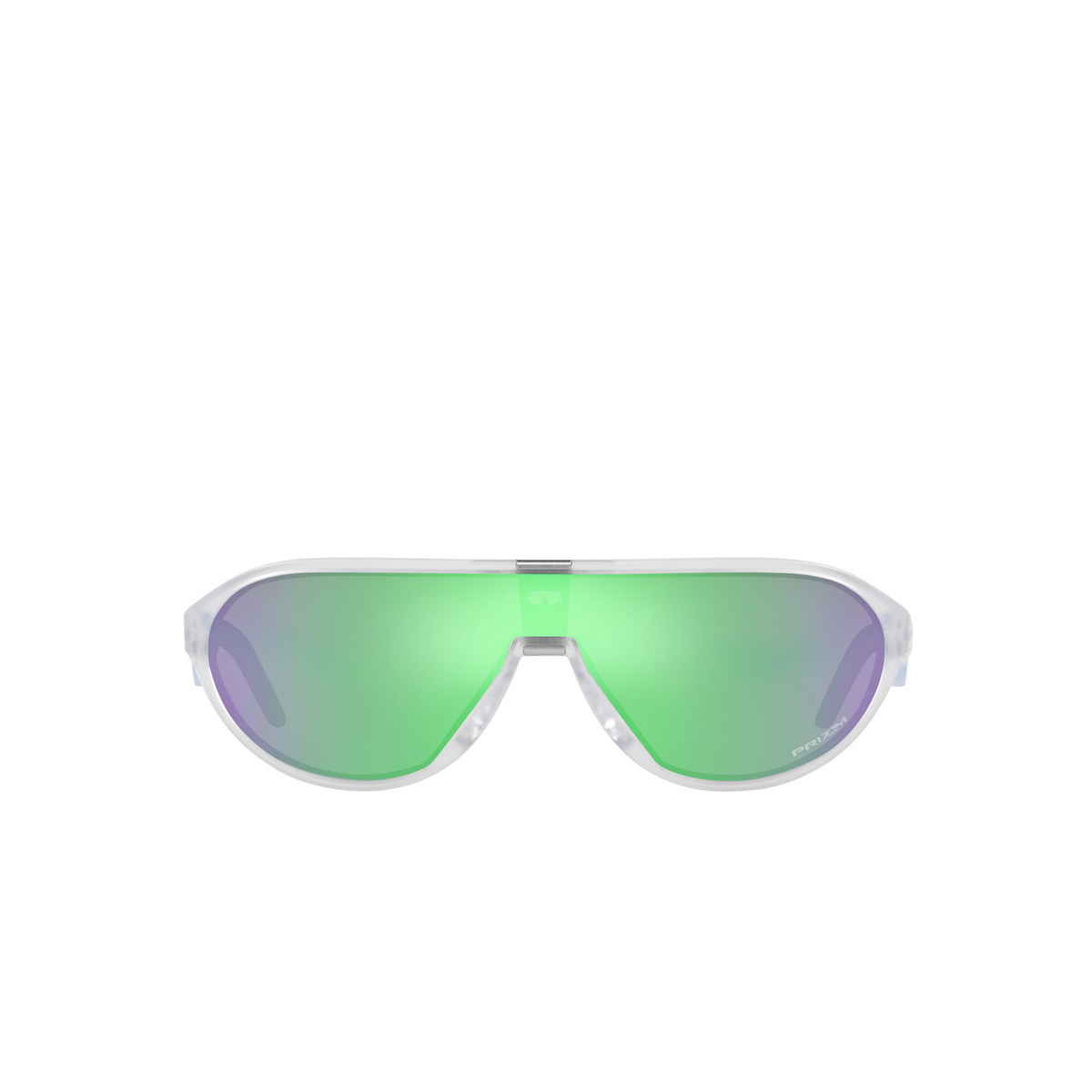 Oakley® Rectangle Sunglasses: Cmdn OO9467 color Matte Clear 946703 - front view.