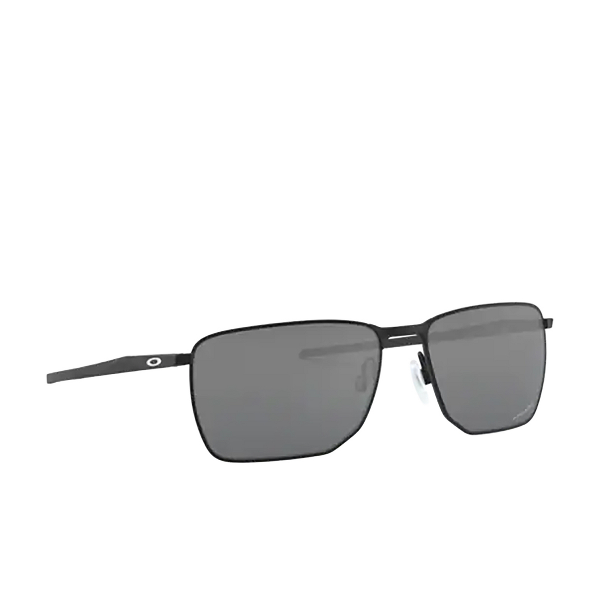 Oakley® Rectangle Sunglasses: Ejector OO4142 color Satin Black 414201 - three-quarters view.