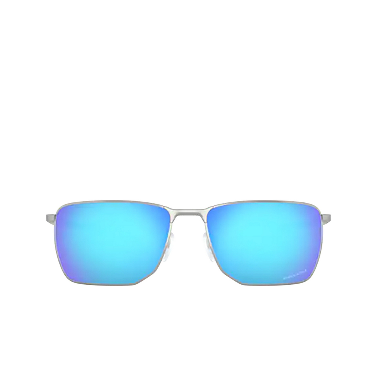 Oakley® Rectangle Sunglasses: Ejector OO4142 color Satin Chrome 414204 - front view.