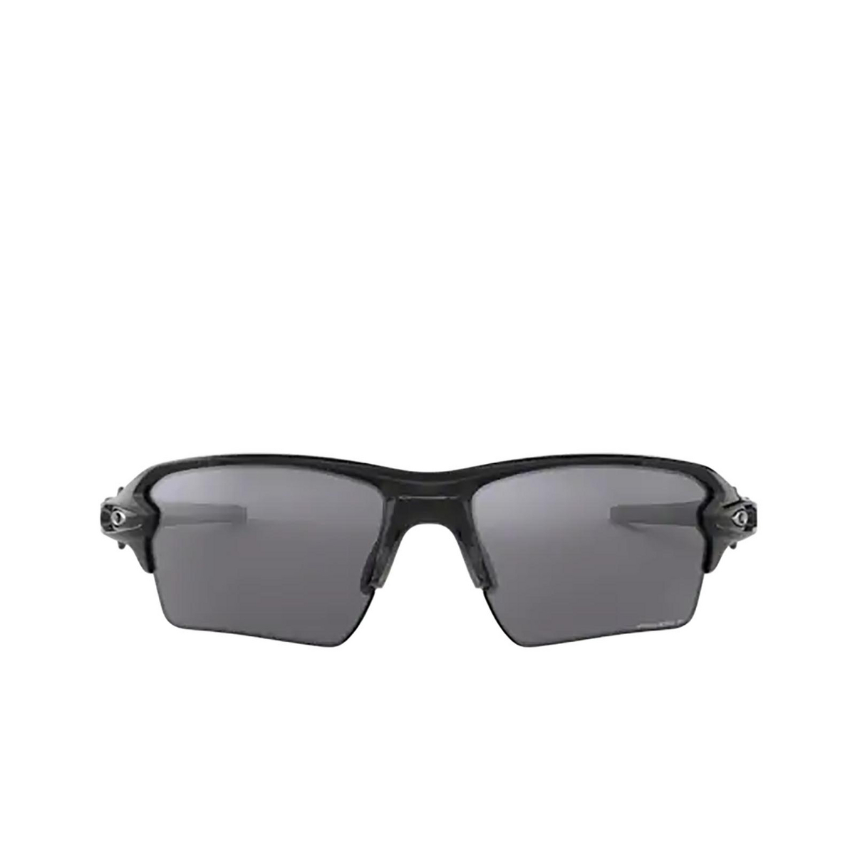 Oakley® Rectangle Sunglasses: Flak 2.0 Xl OO9188 color Polished Black 918872 - front view.