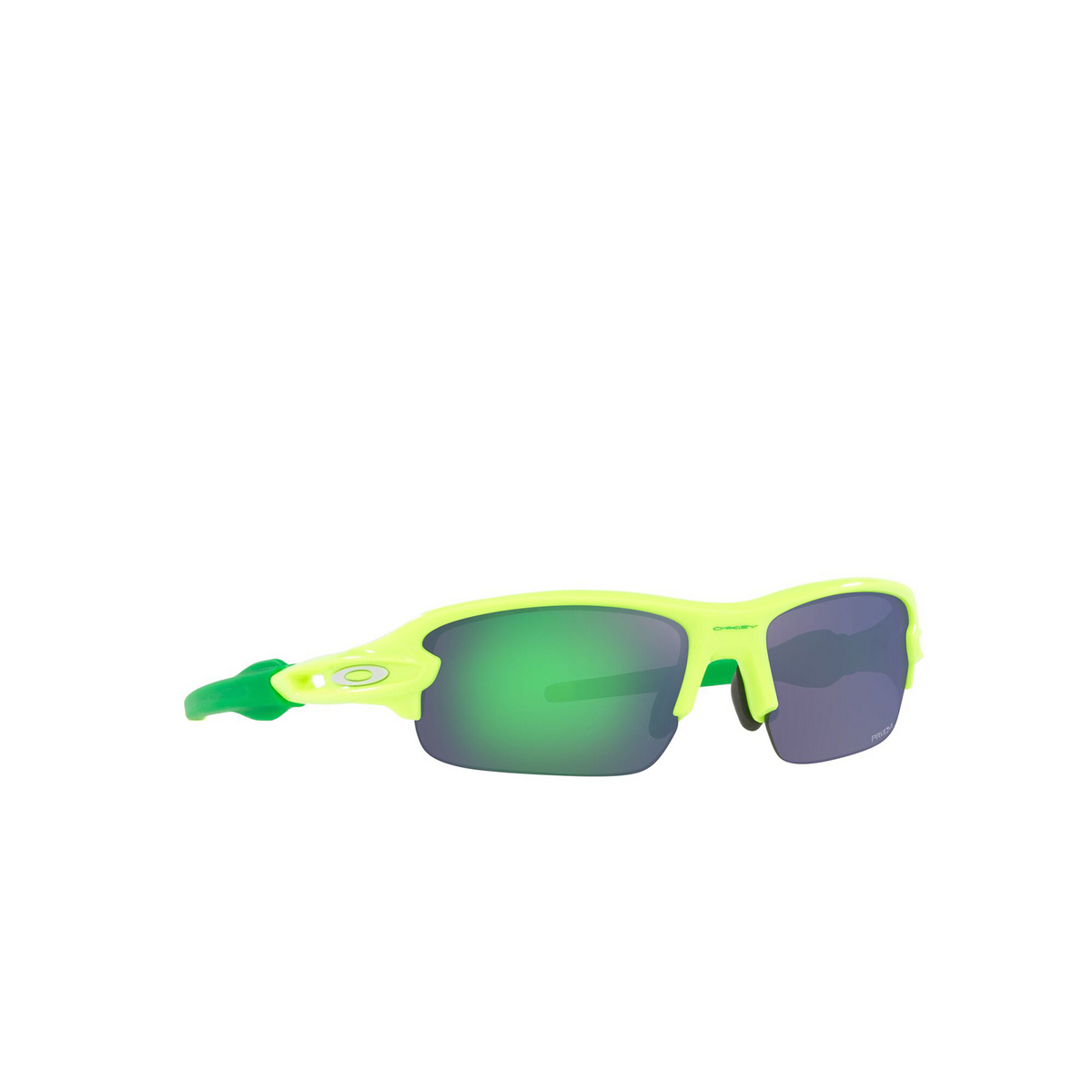 Oakley® Rectangle Sunglasses: Flak Xxs OJ9008 color Retina Burn 900804 - three-quarters view.