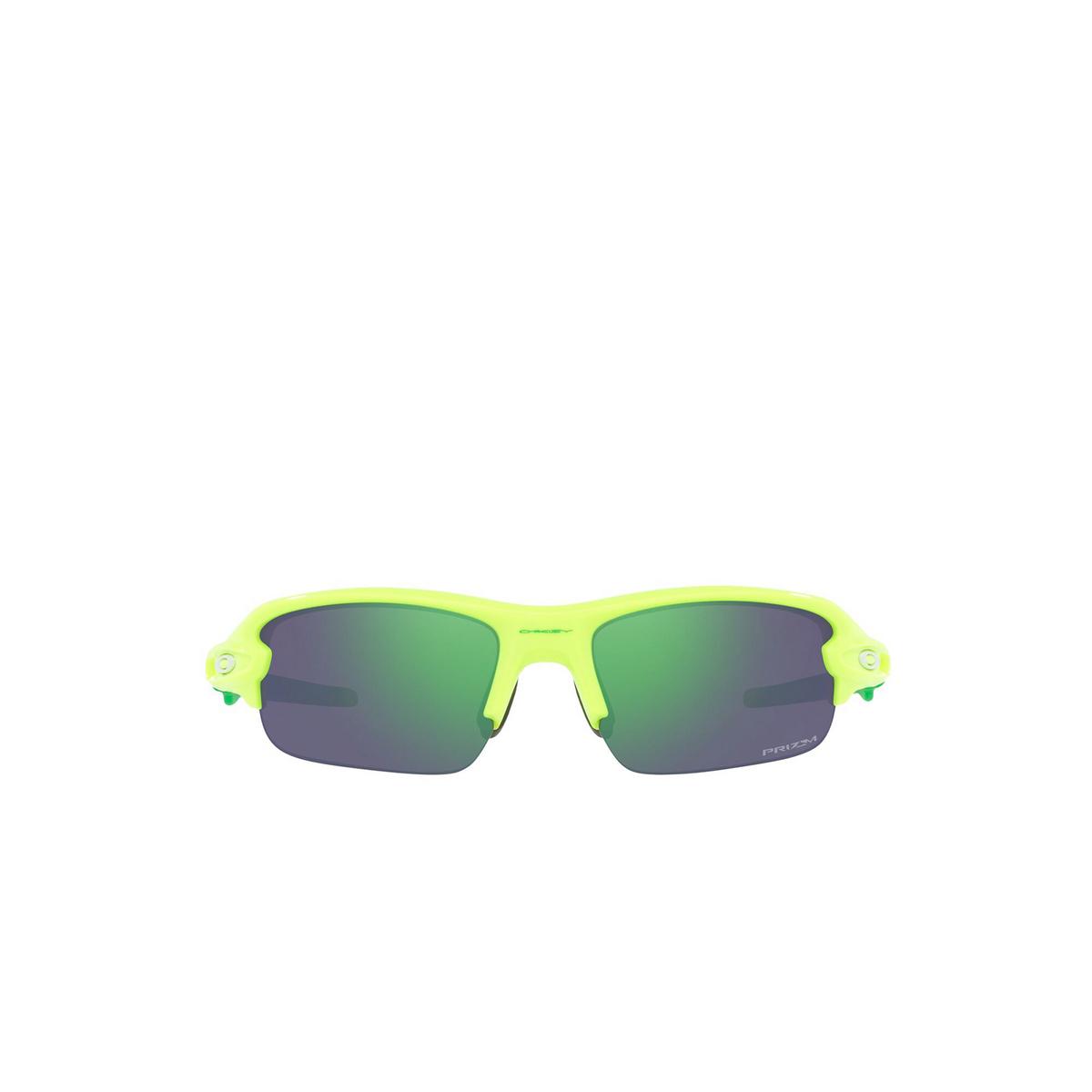 Oakley® Rectangle Sunglasses: Flak Xxs OJ9008 color Retina Burn 900804 - front view.