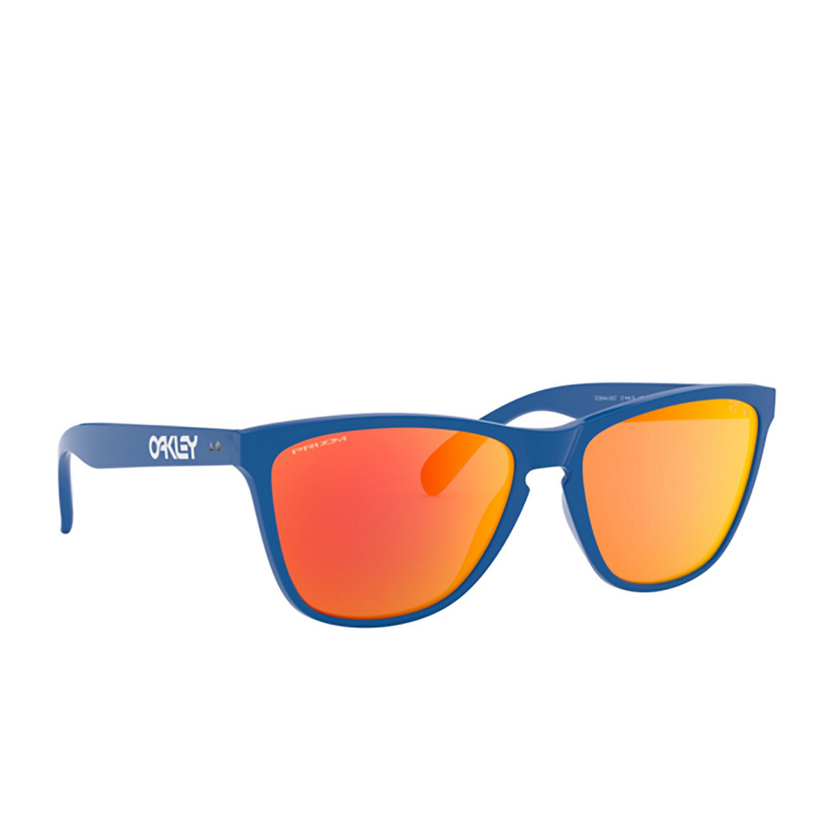 Oakley® Square Sunglasses: Frogskins 35th OO9444 color Primary Blue 944404.